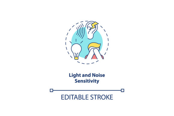 Print on Demand: Light and Noise Sensitivity Concept Icon Graphic Icons By bsd studio