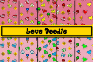 Print on Demand: Love Doodle Graphic Patterns By Mahesa Design