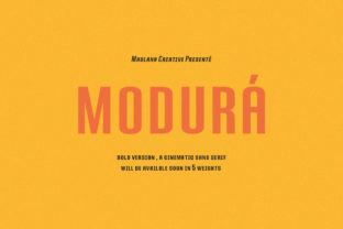 Print on Demand: Modura Sans Serif Font By Maulana Creative