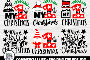 Print on Demand: My First Christmas SVG Bundle, Cut Files Graphic Crafts By nibaartstudio