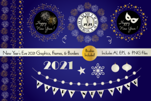 New Year's Eve Graphics, Frames, Borders Graphic Illustrations By Melissa Held Designs