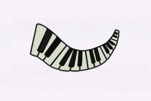 Piano Keys Design Music Embroidery Design By DigitEMB