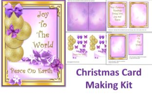 Print on Demand: Pink Christmas Card Making Kit Graphic Crafts By The Paper Princess
