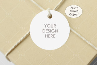Round/Circle Tag Mockup Graphic Product Mockups By thesundaychic
