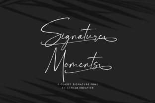 Print on Demand: Signature Moments Script & Handwritten Font By hadjarcreative