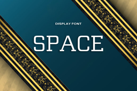 Print on Demand: Space Display Font By DmDesignsStoreArt