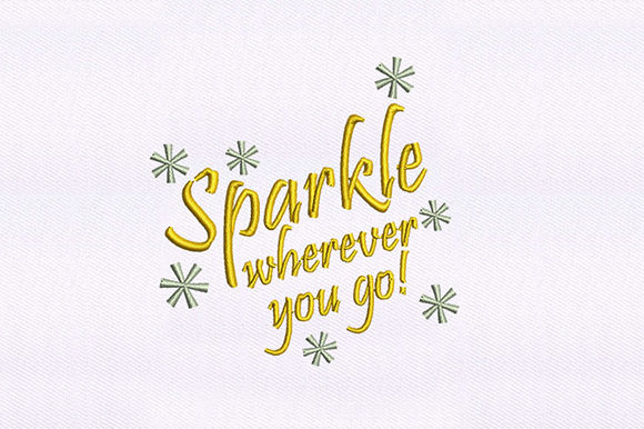 Sparkling Quote Design Awareness Embroidery Design By DigitEMB