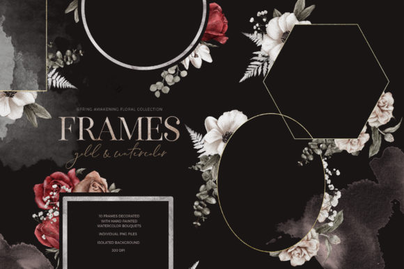 Print on Demand: Spring Awaikening: Floral Frames PNG Graphic Illustrations By Busy May Studio