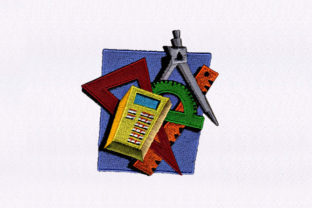 Stationery Tools Design School & Education Embroidery Design By DigitEMB
