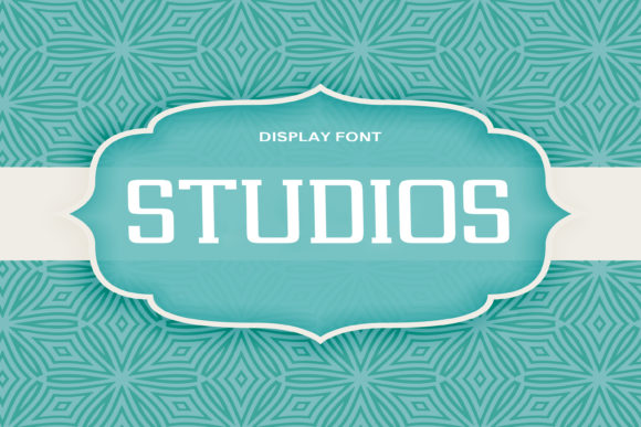 Print on Demand: Studios Display Font By DmDesignsStoreArt