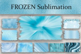 Print on Demand: Sublimation Frozen Background Graphic Backgrounds By PinkPearly