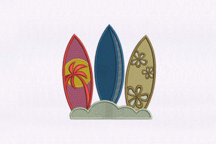Surfing Boards Design Beach & Nautical Embroidery Design By DigitEMB
