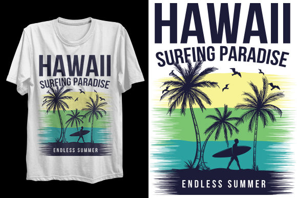Print on Demand: Surfing T-Shirt Design for Print Graphic Print Templates By Graphicflow