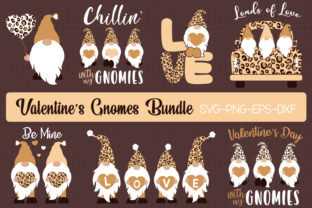 Print on Demand: Valentine's Day Gnomes Bundle Graphic Crafts By All About Svg