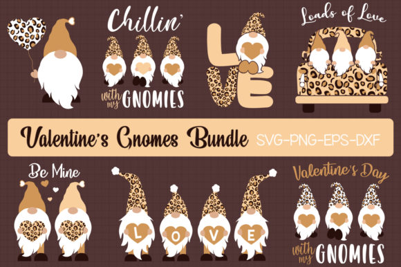 Valentine's Day Gnomes Bundle Graphic Crafts By All About Svg