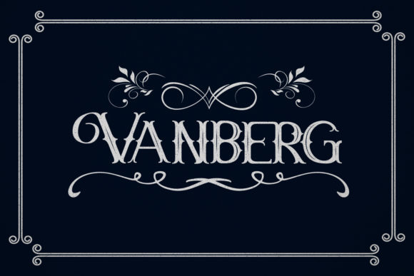 Print on Demand: Vanberg Blackletter Font By Maulana Creative