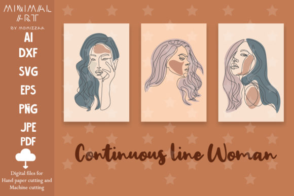 Print on Demand: Wall Art / Continuous Line, Woman Graphic Illustrations By Momixzaa