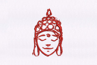 Woman Statue Face Design Asia Embroidery Design By DigitEMB