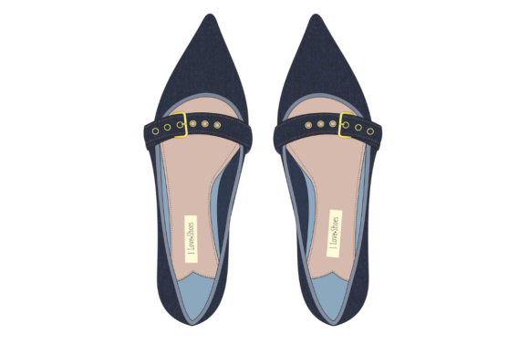 Print on Demand: Woman's Denim Shoes Graphic Illustrations By ArtsAlive