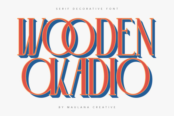 Print on Demand: Wooden Okadio Serif Font By Maulana Creative