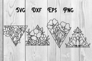 Print on Demand: Floral Shape, Triangle, Flower Shape Svg Graphic Print Templates By dadan_pm