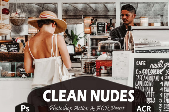 Print on Demand: 10 Clean Nudes Photoshop Actions and ACR Graphic Actions & Presets By Mattte Studio