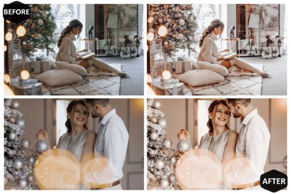 10 Glamour Xmas Photoshop Actions Graphic Graphic