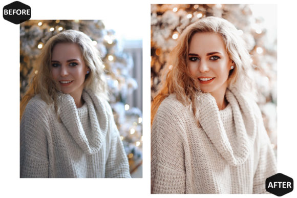 10 Glamour Xmas Photoshop Actions Graphic Download