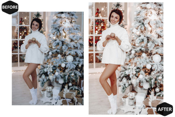 10 Glamour Xmas Photoshop Actions Graphic Design