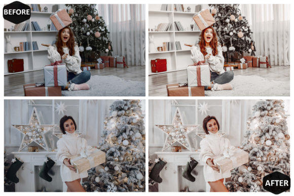 10 Glamour Xmas Photoshop Actions Graphic Preview