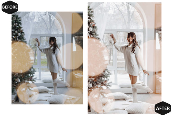 10 Glamour Xmas Photoshop Actions Graphic Downloadable Digital File