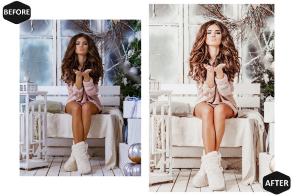 10 Glamour Xmas Photoshop Actions Graphic Popular Design