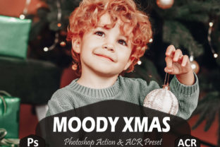Print on Demand: 10 Moody Xmas Photoshop Actions and ACR Graphic Actions & Presets By Mattte Studio