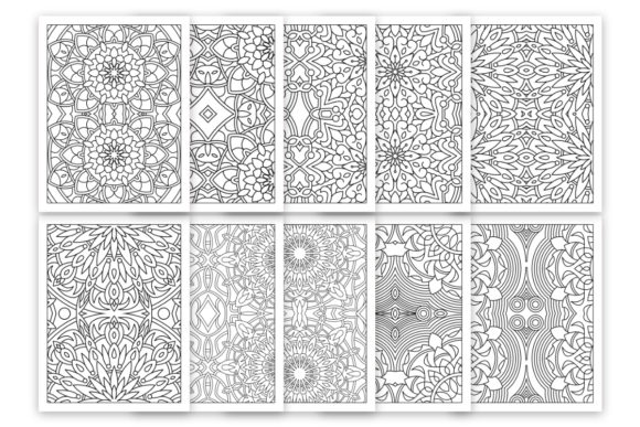 10 Relaxing Coloring Pages For Adult Graphic By Doridodesign · Creative  Fabrica