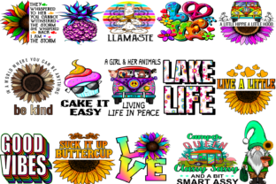 15 Hippie Design Bundle Graphic Illustrations By Fundesings