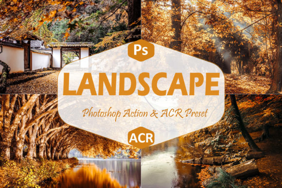 Print on Demand: 40 Landscape Photoshop Actions and ACR Graphic Actions & Presets By Mattte Studio