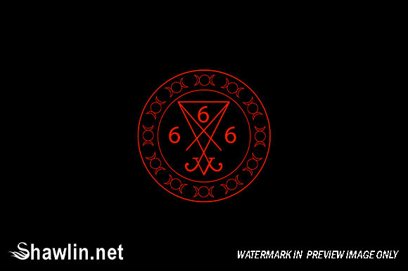 666- the Number of the Beast Symbol Graphic Illustrations By shawlin