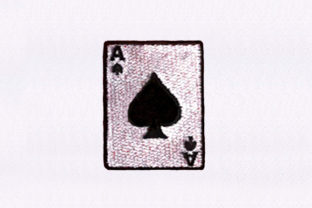 Ace of Spades Card Games & Leisure Embroidery Design By DigitEMB