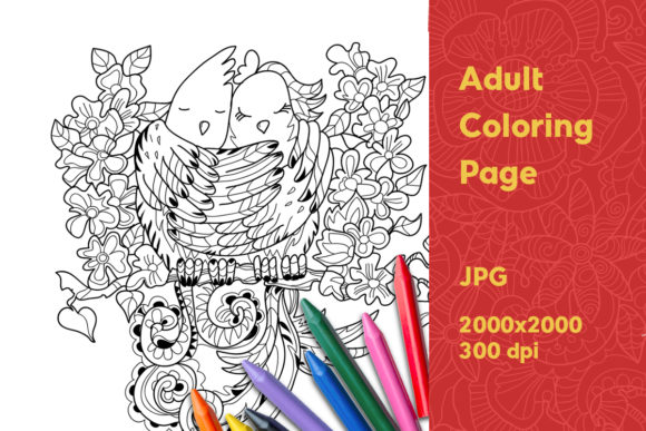 Print on Demand: Adult Coloring Page Gráfico Libros para colorear - Adultos Por YAZZIK