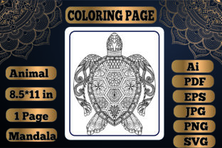 Print on Demand: Animal Mandala Coloring Page 2 for Adult Graphic Coloring Pages & Books Adults By KDP_Interior_101