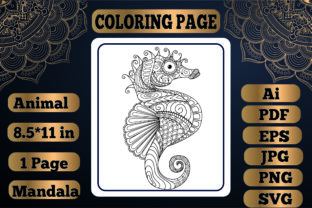Print on Demand: Animal Mandala Coloring Page 4 for Adult Graphic Coloring Pages & Books Adults By KDP_Interior_101