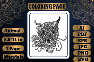 Print on Demand: Animal Mandala Coloring Page 7 for Adult Graphic Coloring Pages & Books Adults By KDP_Interior_101
