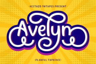 Print on Demand: Avelyn Manuscrita Fuente Por Keithzo (7NTypes)