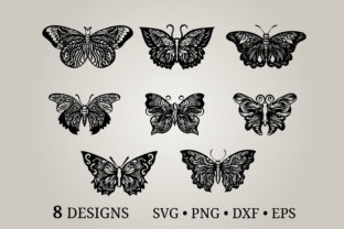 Butterfly Bundle Svg Graphic Print Templates By Euphoria Design