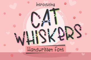 Print on Demand: Cat Whiskers Script & Handwritten Font By boogaletter