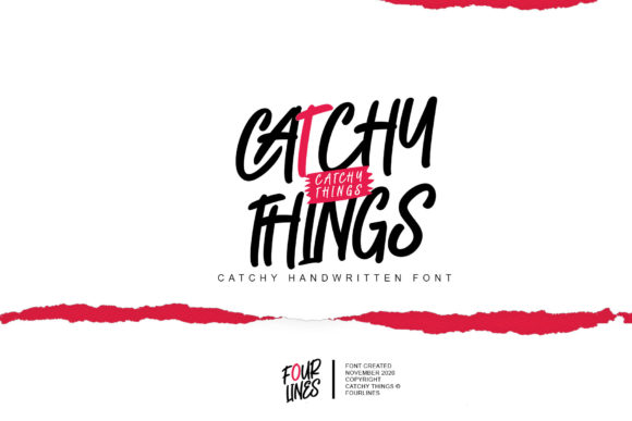 Print on Demand: Catchy Things Display Font By Fourlines.design