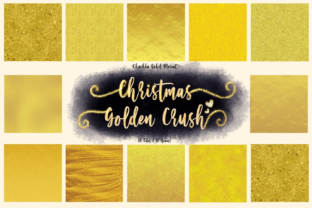 Christmas Golden Crush Graphic Textures By ArtstudioByKhushbu