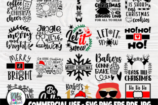 Print on Demand: Christmas SVG Bundle, Merry Christmas Graphic Crafts By nibaartstudio