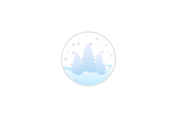 Print on Demand: Christmas Spruce Snowball Illustration Graphic Illustrations By isalnesia
