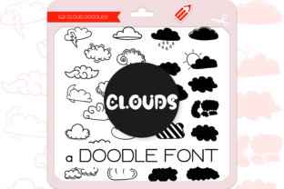 Print on Demand: Clouds Dingbats Dingbats Font By WADLEN